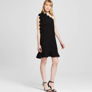 Victoria Beckham for Target Black scalloped dress